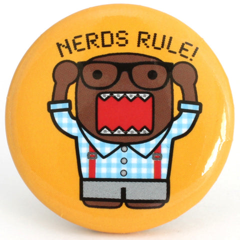 "Nerds Rule Domo 1.25"" Button"