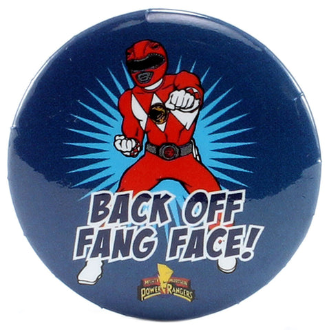 "Back Off Fang Face 1.25"" Button"