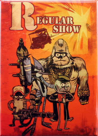 Regular Show Issue #1 A-Team Variant Cover by Tommy Lee Edwards Magnet