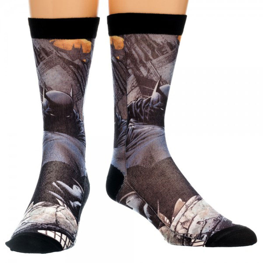 Batman Dark Sublimated Crew Socks - THATWEBSTORE