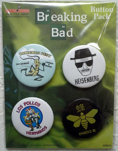 Breaking Bad 4 Button Pack