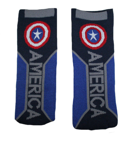 Captain America Text Active Crew Socks