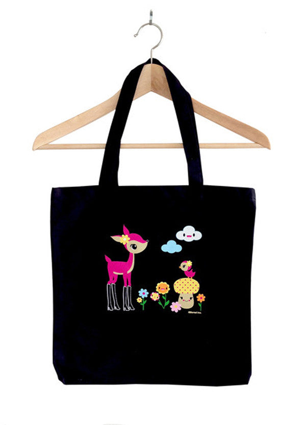 Deer in Boots Tote Bag - THATWEBSTORE