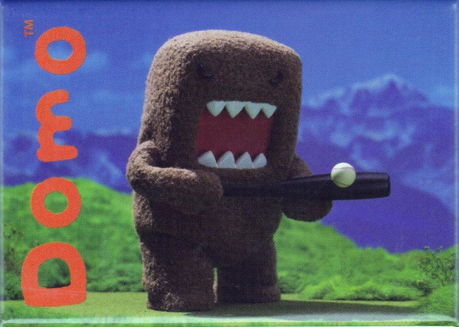 Baseball Playing Domo Magnet - THATWEBSTORE