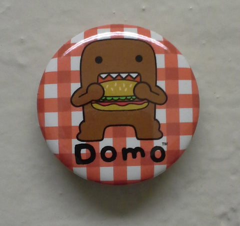 "Burger Eating Domo 1.25"" Button"