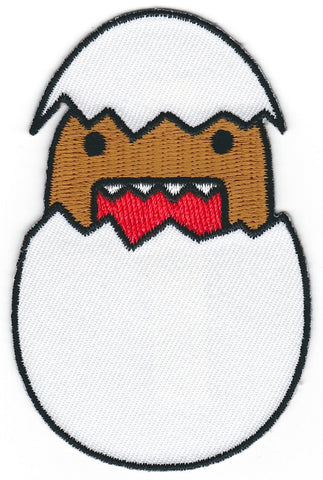 Domo Hatching from Egg Iron On Patch