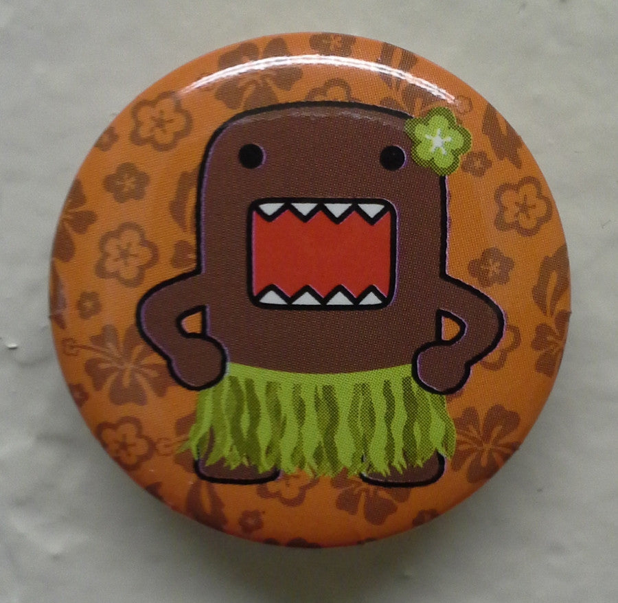 "Hula Dancer Domo 1.25"" Button - THATWEBSTORE"