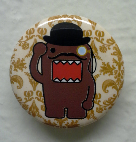 "Mustache and Monocle Domo 1.25"" Button"