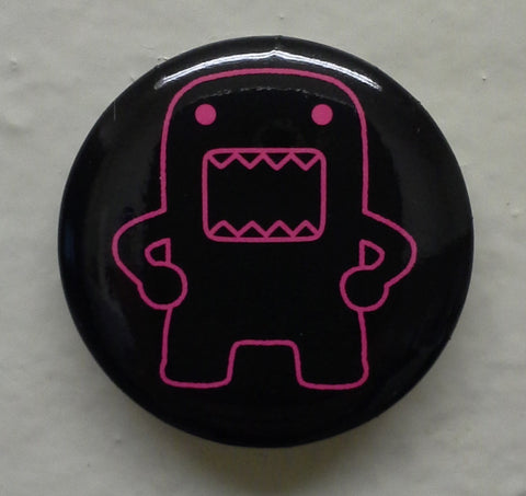 "Hip Holding Hot Pink Outline Domo 1.25"" Button"