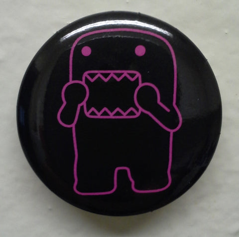"Frightened Purple Outline Domo 1.25"" Button"