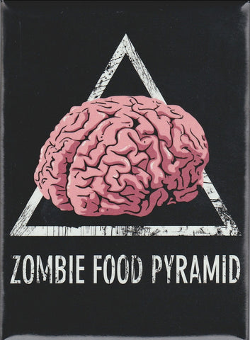 Zombie Food Pyramid Magnet