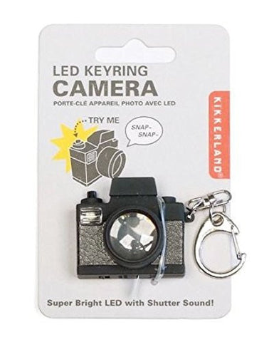 Kikkerland Camera Led Keychain CDU