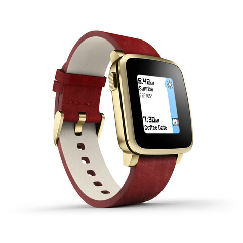 Pebble Time Steel Smart Watch for Apple/Android Devices