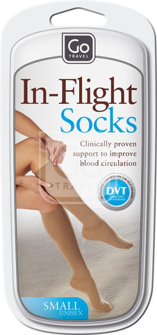 Go Travel Flight Socks Nude