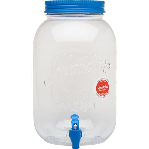 Aladdin Glass Mason Beverage Dispenser 128oz (3.8 Litres)