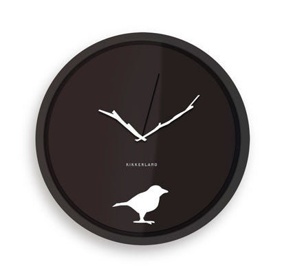 Kikkerland Early Bird Wall Clock 8""