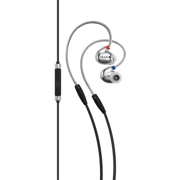 RHA T10i High Fidelity, Noise Isolating In-Ear Headphone with Remote and  Microphone