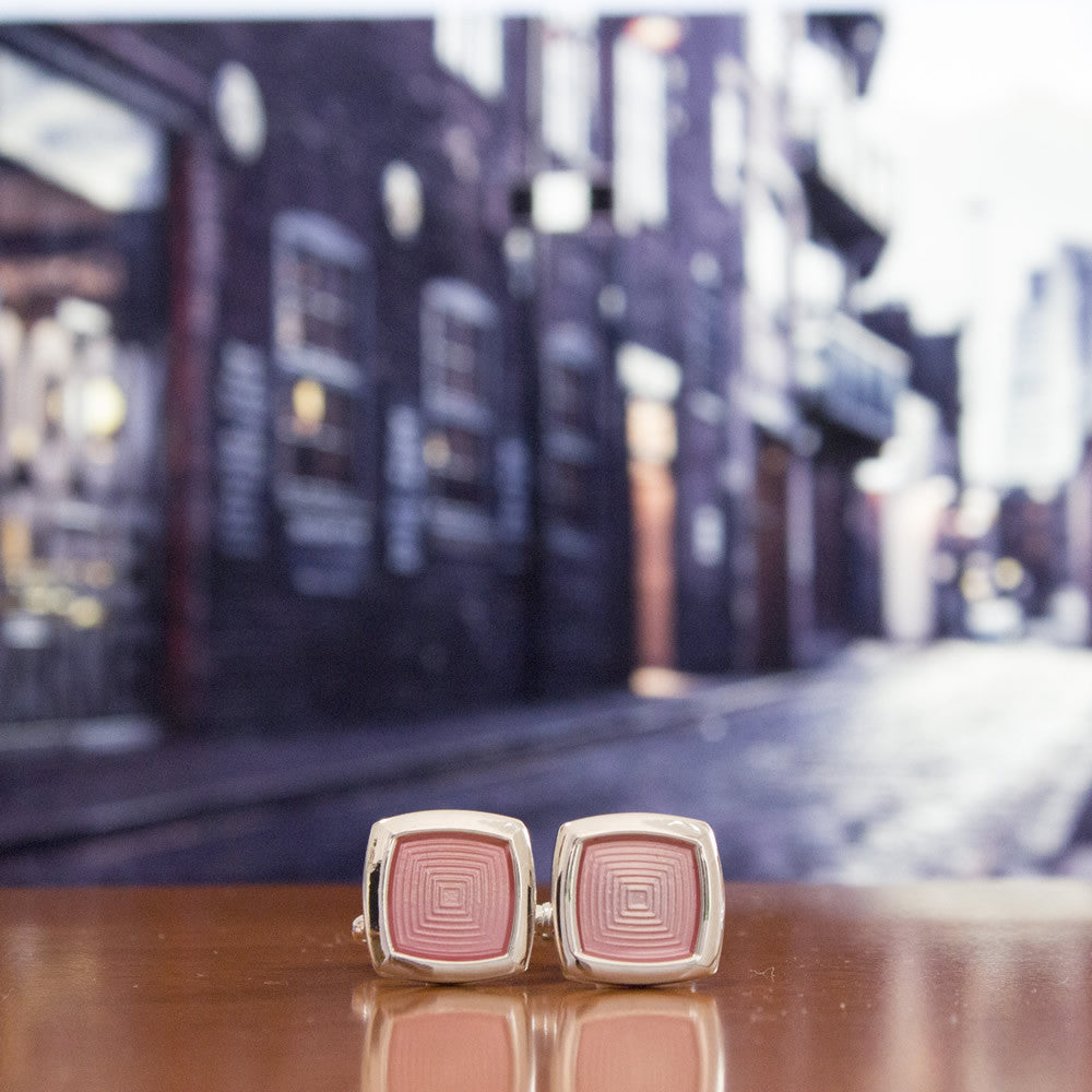 KingCuffs Enameled Square Cufflink