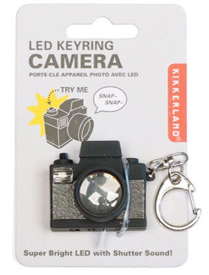 Kikkerland Camera Led Keychain Carded