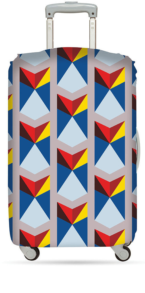 LOQI Luggage Cover GEOMETRIC Collection
