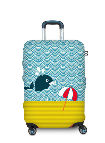Benga Luggage Cover Light Whale