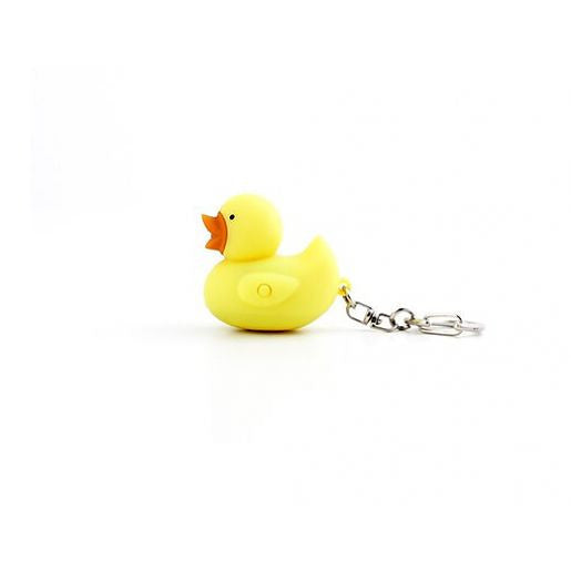 LED DUCK KEYCHAIN w Light and Sound Quacking Noise Cute Animal Key Chain Ring