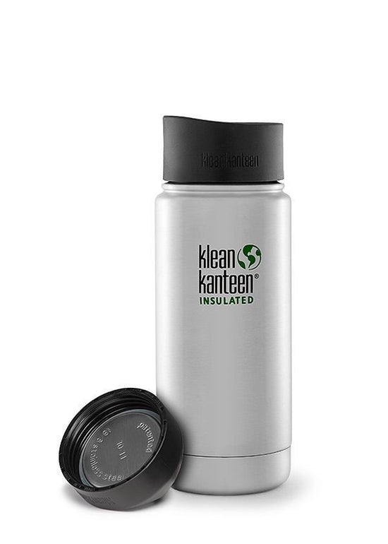 Klean Kanteen 16-Ounce Wide Insulated Stainless Steel Bottle with Loop Cap Shale Black K16VWSSL-SB