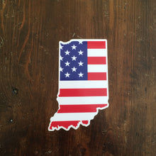 American Flag Indiana Sticker