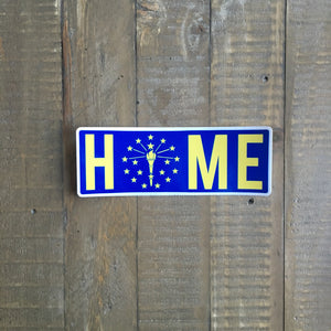 Indiana Home Sticker Blue and Gold