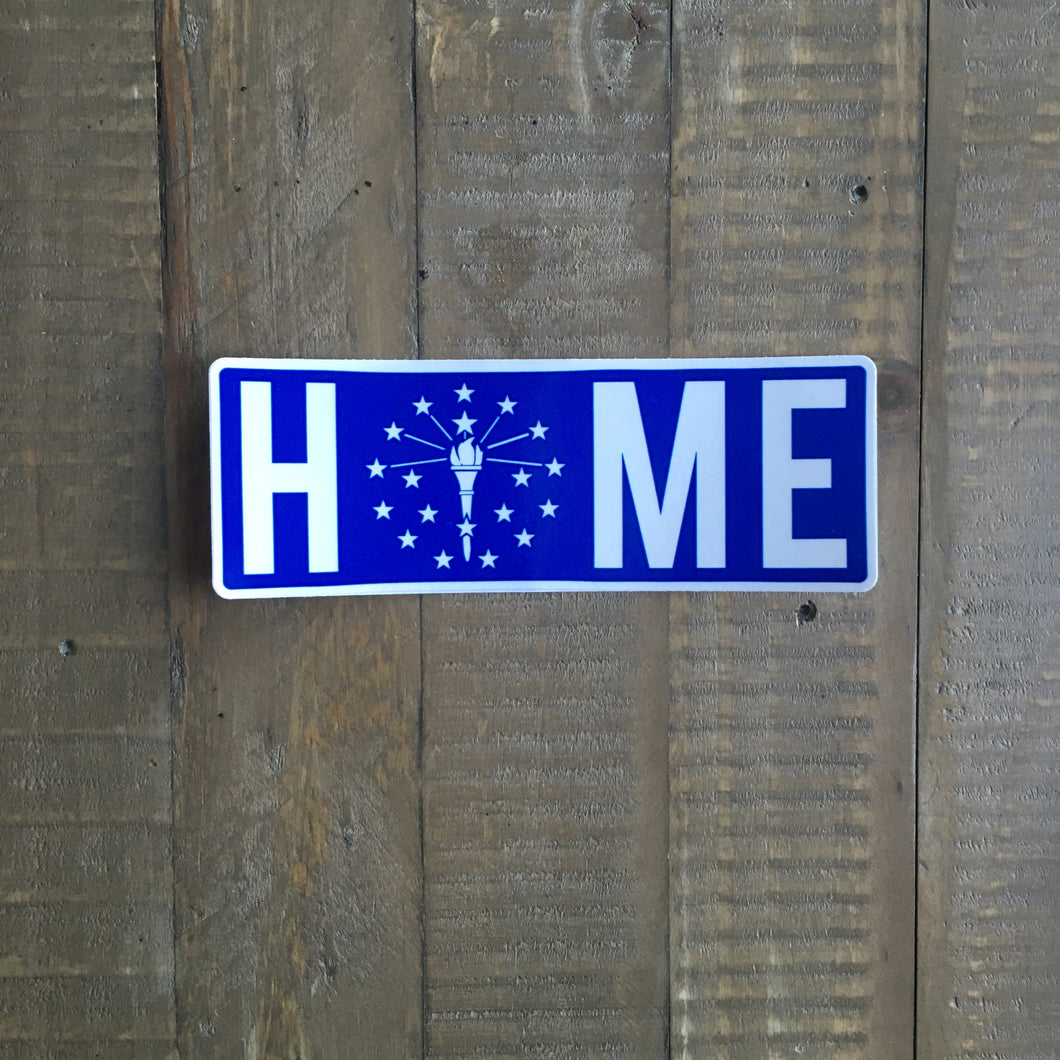 Indiana Home Sticker Blue and White