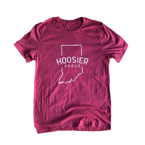 Hoosier Proud Heather Raspberry Shirt
