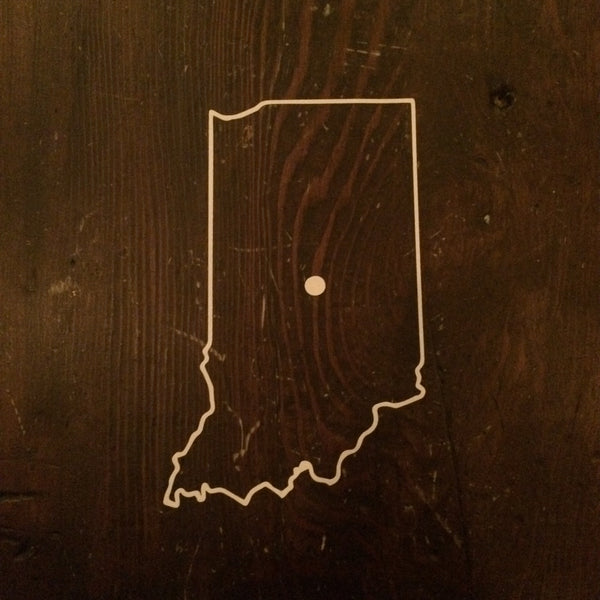 Indiana Outline Sticker