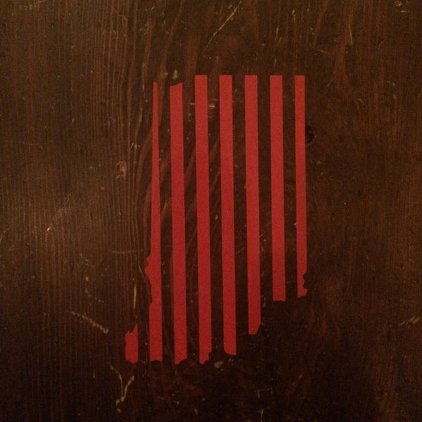 Indiana Red Stripes Sticker