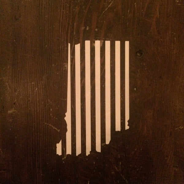 Indiana White Stripes Sticker