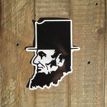Abe Lincoln Indiana Sticker