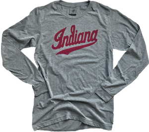 Script Indiana Long Sleeve Shirt