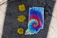 Indiana Tie-Dye Sticker