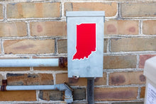 Indiana Red and White Sticker