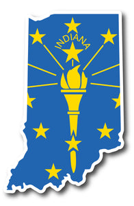 Indiana State Flag Sticker