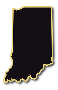 Black and Gold Indiana Sticker
