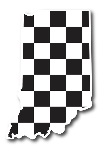 indy 500 sticker checkered flag indiana