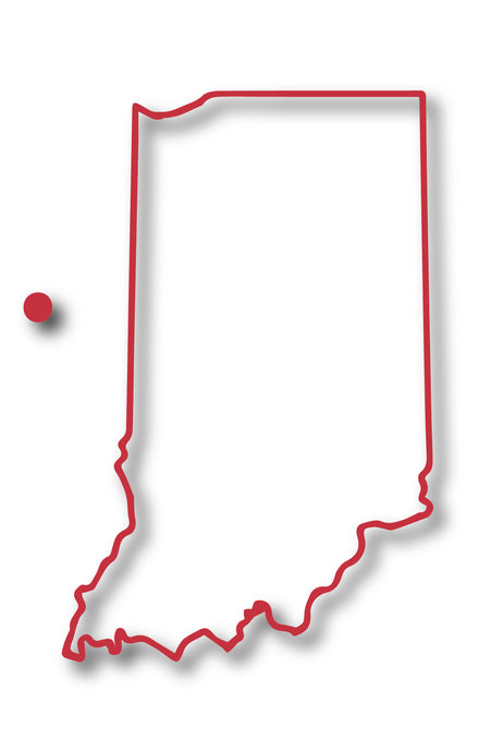 Indiana Borders Sticker Red