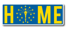 Indiana Home State Flag Sticker