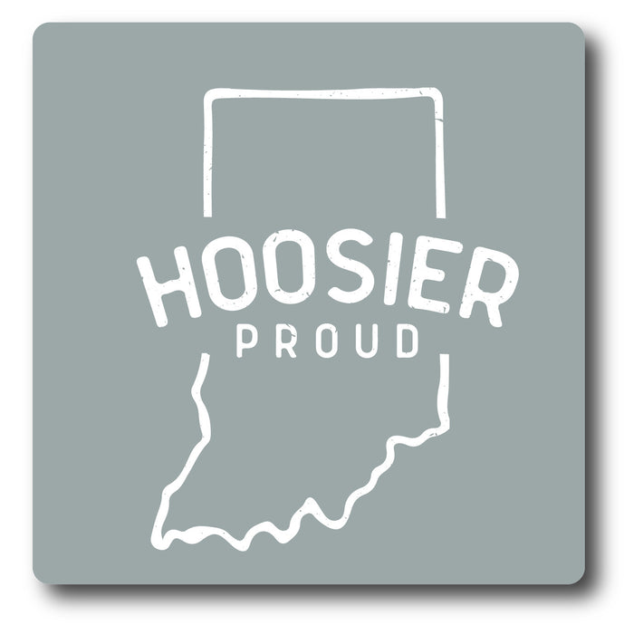 Hoosier Proud Logo Sticker Grey
