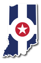 Indianapolis Flag Sticker