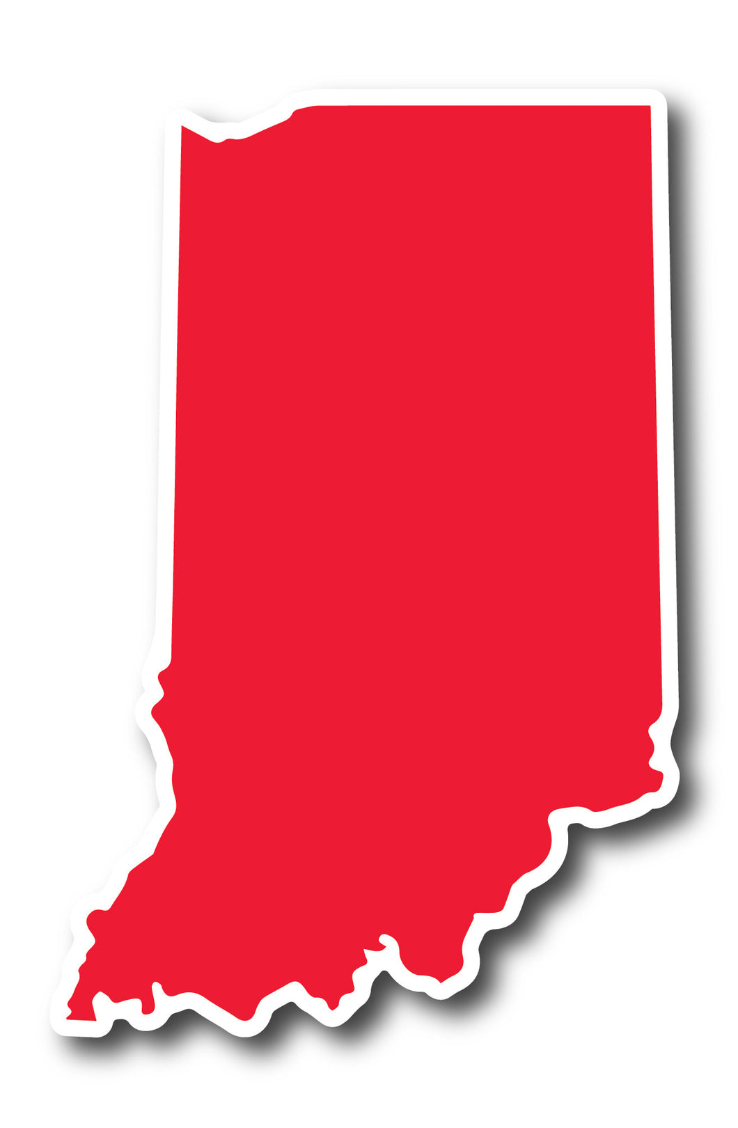 Red and White Indiana Sticker