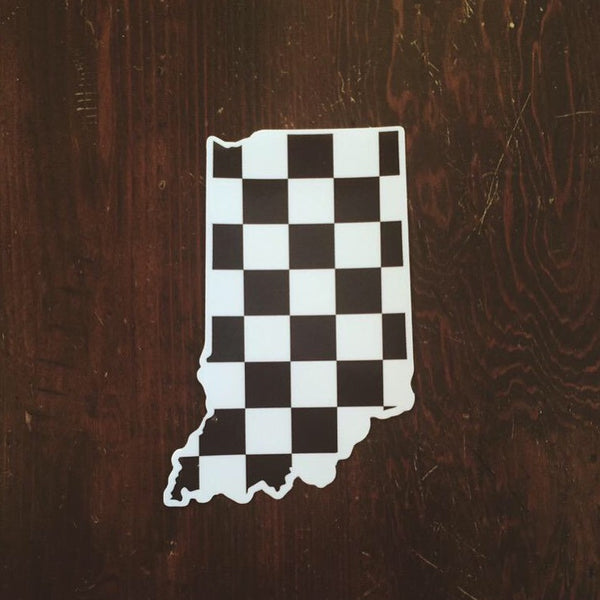 Indiana Checkered Flag Sticker