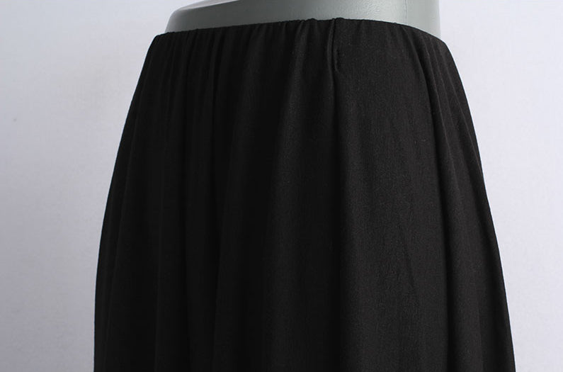 Unbalanced Banding Skirt