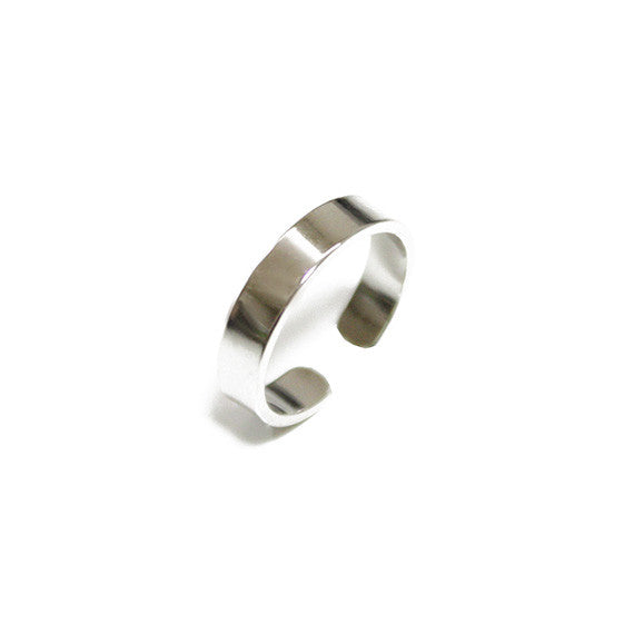 Silver Tone Ring - Set of 6