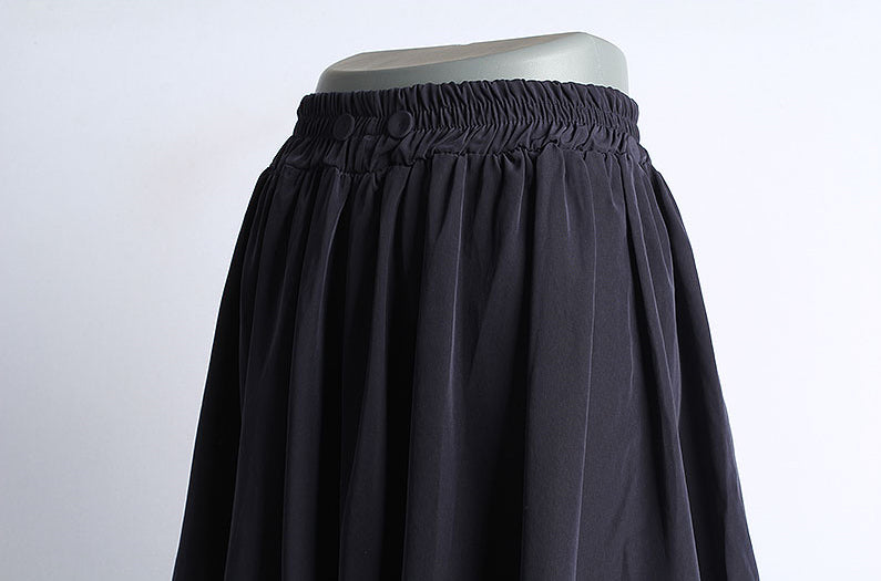 Waist Banding Button Skirt